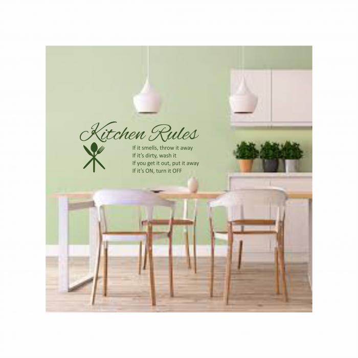 Sticker Kitchen Rules SP11 0
